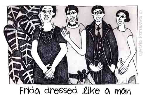 Frida Dressed Like A Man