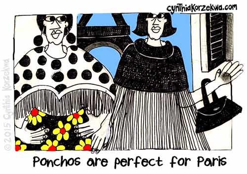 Ponchos Are Perfect For Paris