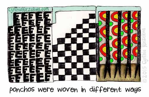 Ponchos Were Woven In Different Ways