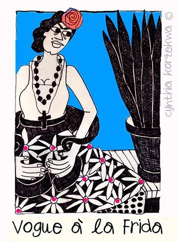 Frida à la Vogue