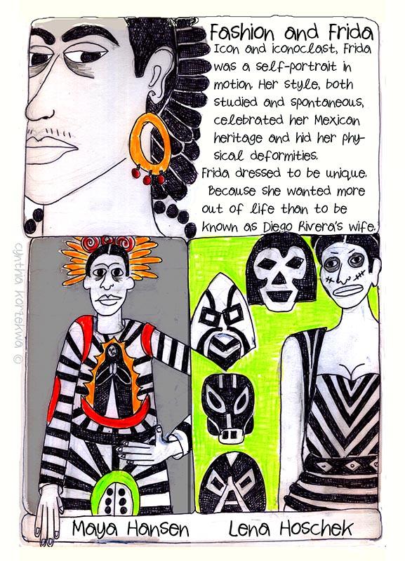Frida Kahlo Wears Huipiles