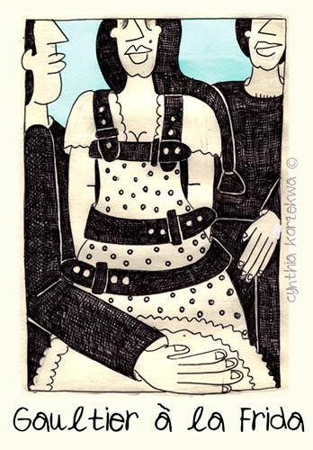 Frida a la Gaultier