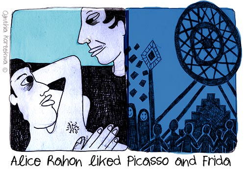 Alice Rahon was fascinated by Frida