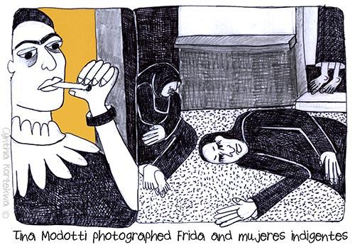 Tina Modotti photographed Frida and mujeres indigentes
