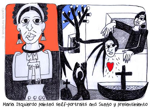 Maria Izquierdo painted self-portraits and Sueño y presentimien