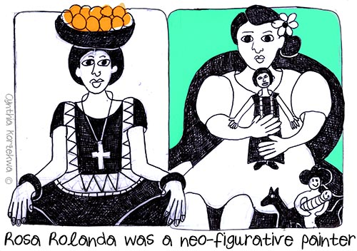 Rosa Rolanda was a neo-figurative painter