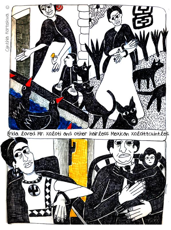 Frida Kahlo's Pets