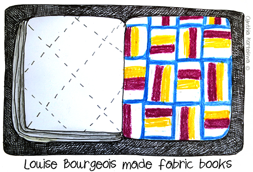 Louise Bourgeois Made Fabric Books