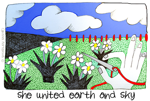 she united earth and sky