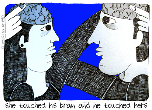 she touched his brain and he touched hers