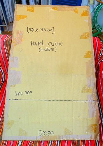 Cardboard Huipil
