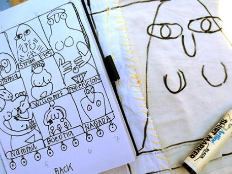 "Sketch for ""My Name is Venus"" Huipil"