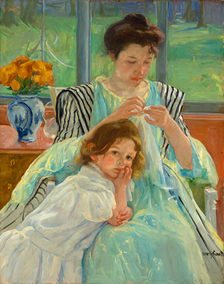 Mary Cassatt Mother Sewing