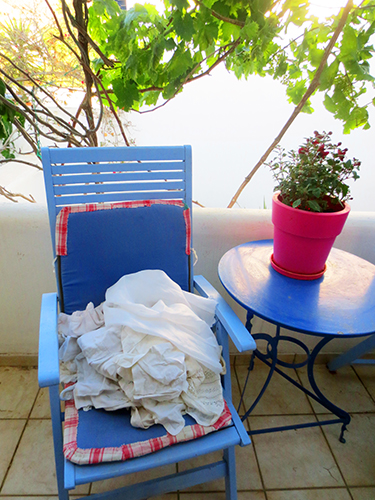 White Clothes on a Chair